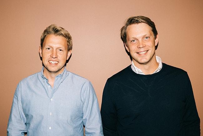 Daniel Kjellén och Fredrik Hedberg grundare av det svenska fintechbolaget Tink